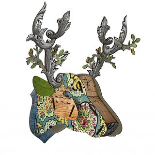 Italy MIHO wooden deer head high quality home decoration / wall decoration - extra large size (Big-34) spot