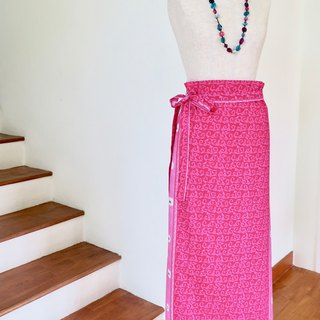 Wrap Skirt Pink Indonesian Fabric