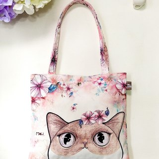Good lightweight small bag / shopping bag / lunch bag / flower cat