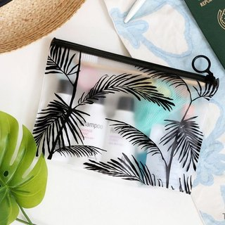 iconic Travel - Transparent waterproof zipper bag cosmetic bag M-Rainforest, ICO87007