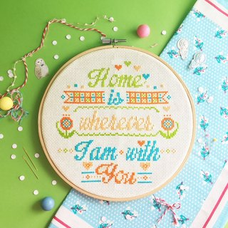 Cross Stitch KIT - Home is wherever I am with You