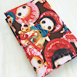 Japanese tarpaulin retro doll passport set passport holder