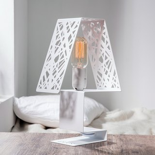 【OPUS Metalart】European Chic Metal Iron Lamp / Modeling Night Light / Modern Contemporary Table Light / Boutique lighting / Metal Lamp / Bedside Lamp / Metal Decor Light (Elegant White)
