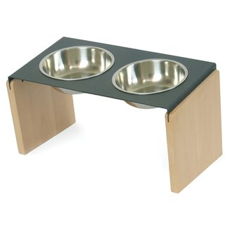 [Mao furniture] Teppanyaki meal holder double bowl-M