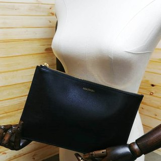 Imported Italian Nappa Leather Black Dual Net Pouch