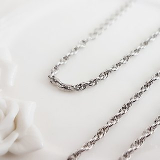 Belle blossoming 2.8mm double buckle cross steel chain length 50-85 cm long chain sweater chain is not afraid of water