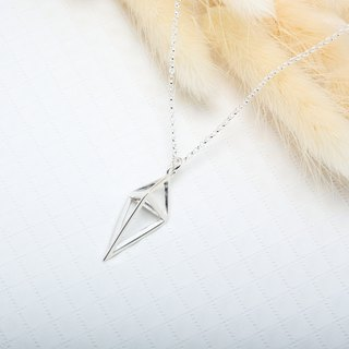 3D Simple Diamond Triangle s925 sterling silver necklace Valentine's Day gift