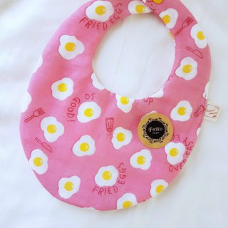 Eyebrows - Peach - Double Sided Egg Bib - Eight Layers 100% Cotton