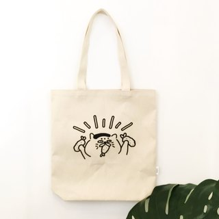 M-type shoulder / hand canvas bag - 2nd anniversary Goro