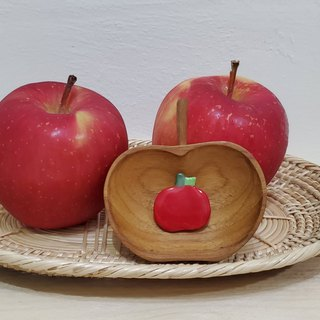 Small apple ceramic pin
