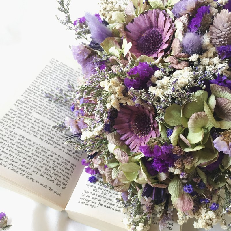 Natural pastoral // Vintage Country Style Dry Bouquet/ Dried Flowers ...