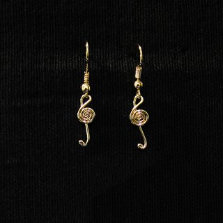 Winwing wire braided earrings - [note] Ear pins / earrings
