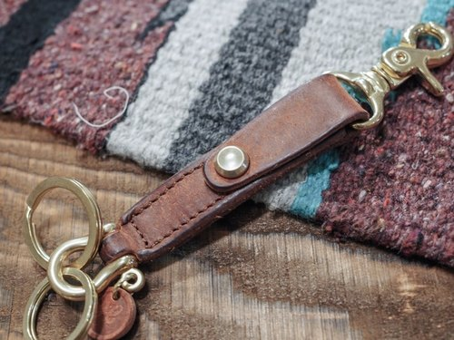 HEYOU Handmade - Key Chain Key Ring - Brown