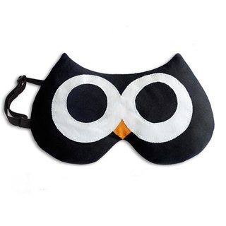 Soothing Fatigue Heat/Cold Eye Mask - Owl Shape (Black)
