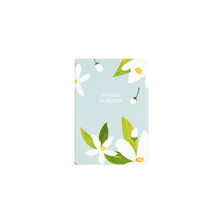 Flower bloom horizontal line notebook S size 03. Orange flower