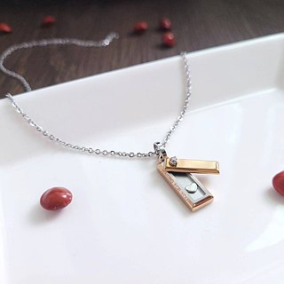 [Value-for-money] heart care sweet love love small pendant love stealing in your heart confession favorite chain