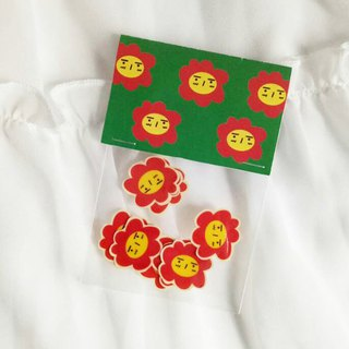 No. 1 expression flower - transparent sticker set of 10 into