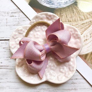 Macarons twisted bow hair bundle / pink purple