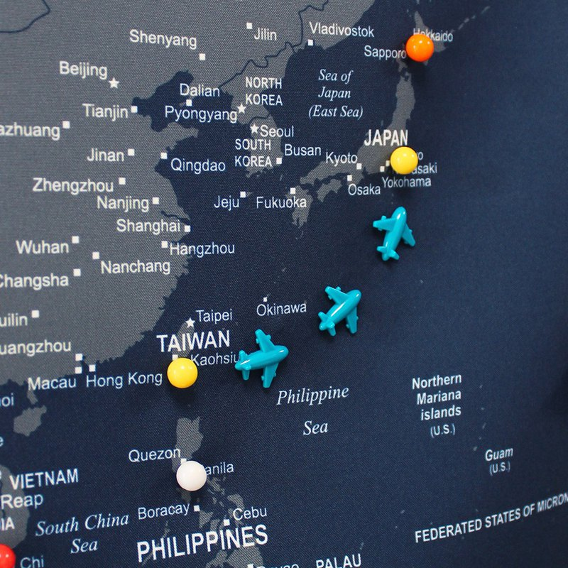 UMade 訂製地圖專用 飛機地標磁鐵 12個
