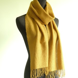 Own Handwoven Wool Scarf - Mustard My Handwoven Wool Scarf - Mustard