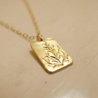 K18 gold gold handmade necklace plate for men