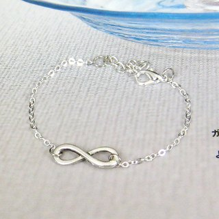 Silver bracelet full of infinite possibilities ..