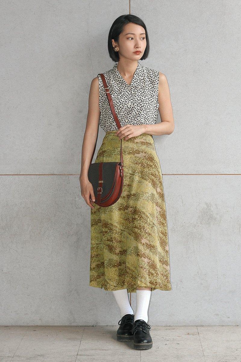 黃石紋古著長裙