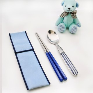 Taiwan's first chopsticks ✦ Navy blue tableware ✦ small pieces of chopsticks group