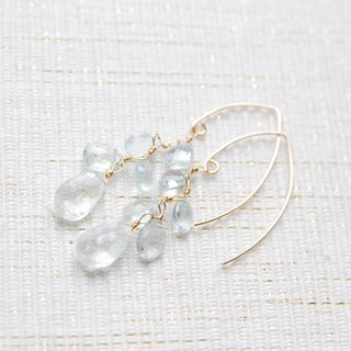 Aquamarine's Suzaku Marukisu Hook Earrings 14 kgf