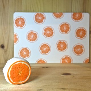 Handmade stamp with postcard(orange)