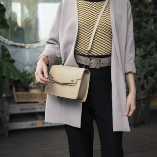 Leather Bag : Quinn (Beige)