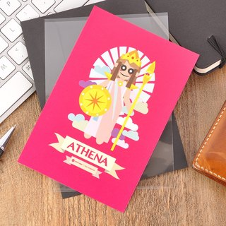 Greek Mythology Character Postcard - Athena