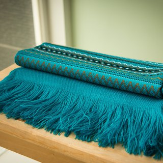 Vista [information], South America, Indian handmade shawl turquoise blue
