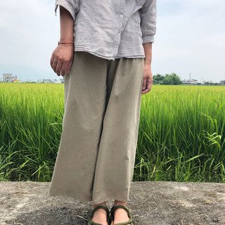 Soft water wash cotton wide leg pants multicolor