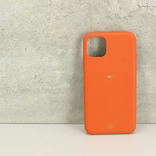 Customized Multi-color Leather Series Macarons Dream Color 24 Orange Red Orange iPhone Case