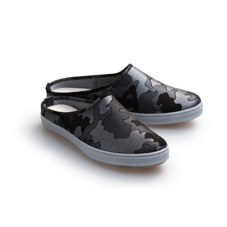"""Baby Day"" MIT pearl camouflage moccasin ""MEN paragraph"" black and silver shoes, men's shoes paternity"