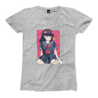 Sailor suit girl - deep gray ash - female version of the T-shirt