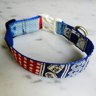 Togo pet collar dog collar collar Japanese style collar chess style light collar