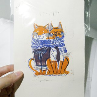 Hand-printed / 2018 Year of the dog cards