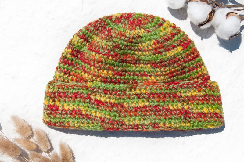 b5f4f202bb3 Woven wool hat   knit hat   knitted hat   inner brush hair hand woven hat