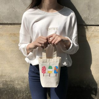 Fruit popsicles row station - environmentally friendly kettle beverage bag