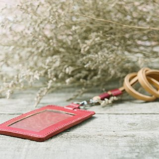 Natural Vegetable Tanned Custom Leather ID Holder