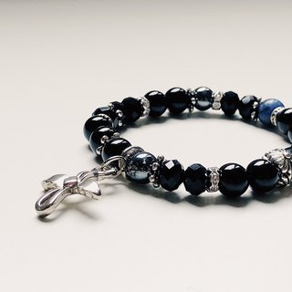 2019 Birthstone Birth Stone Black Agate Ore Bracelet in July
