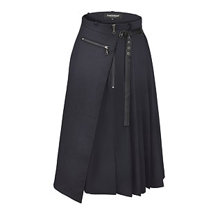 Pleated Double Skirt