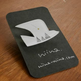 Bird brooch 【white 2】