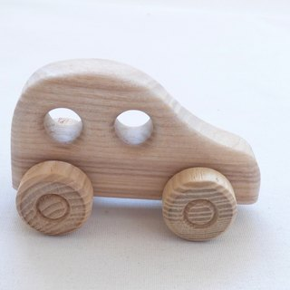 New Handcrafted Natural Ecological Organic One Small Wooden Car Toys Girls - Boys / Maybe For Painting? Size Approx 4 in or 10 cm