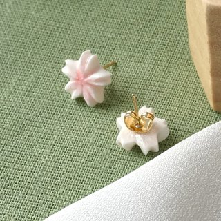 Sakura Cherry Blossom Earrings/Clip on =Flower Piping= Customizable