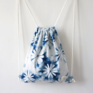 S.A x Spring, Indigo dyed Handmade Natural Pattern Backpacks