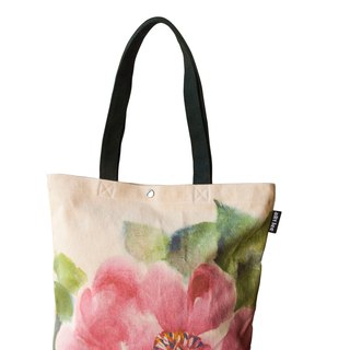 Peony rich canvas bag