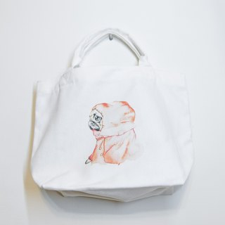 Dog hand-painted Bago cotton canvas / Tote bag canvas bag handbag Tote bag bag lunch bag (pre-order